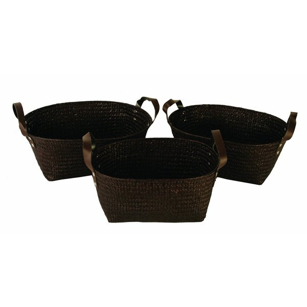 Shop Wald Imports Seagrass Basket (Set Of 3)