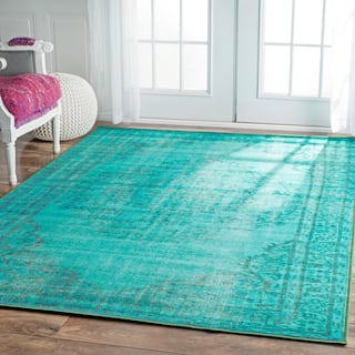 Nuloom Vintage Inspired Fancy Overdyed Rug 4 X 6