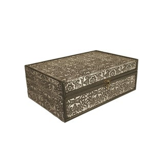Wald Imports 13-inch Metal/ Wood Box