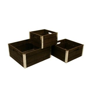 Wald Imports Reinforced Classic Grey-wash Wood Storage Crates (Set of 3)|https://ak1.ostkcdn.com/images/products/9320259/P16480296.jpg?impolicy=medium