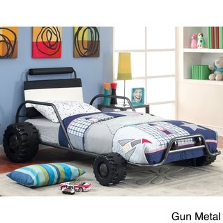 Furniture of America Laid Back Racer Metal Youth Twin Bed