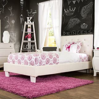 Furniture Of America Mircella Tufted Leatherette Twin Size Platform Bed 2 Options Available