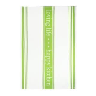 MUkitchen Loving Life Edamame Cotton Jacquard Kitchen Towel