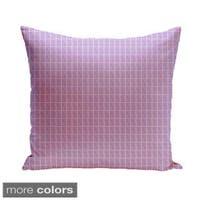 20 x 20-inch Two-tone Geometric Decorative Pillow
