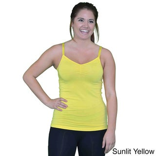 Madison Sport Women's Tiffany Black, Blue, Green, Pink, Yellow Cotton Tank Top