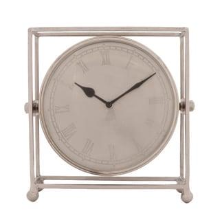 Ren Wil Dell Historia Antique Nickel Cage Clock