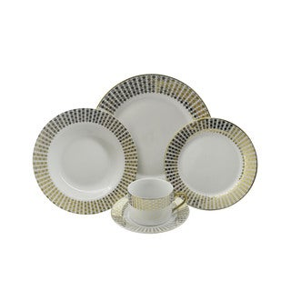 String of Hearts Porcelain 40-piece Dinnerware (Set for 8)