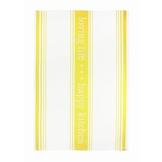 MUkitchen Lemon Drop 'Loving Life' Cotton Jacquard Kitchen Towel