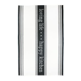 MUkitchen Onyx 'Loving Life' Cotton Jacquard Kitchen Towel