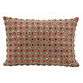 kathy ireland Marble Beads Ruby Throw Pillow (10-inch x 14-inch) by Nourison