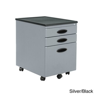 Clay Alder Home Onion Creek Metal Mobile File Cabinet with Wheel Casters (Option: Silver)