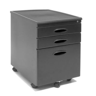 Calico Designs Metal Mobile File Cabinet with Wheel Casters
