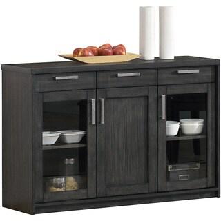 48-inch Charcoal Grey Veneer Server