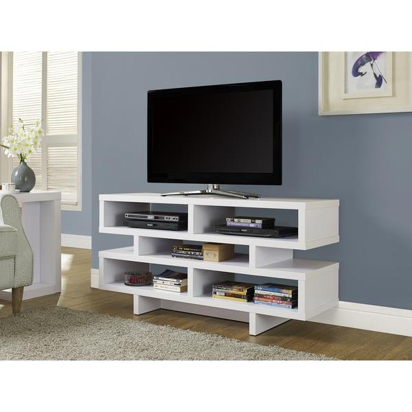 48-inch White Hollow-core TV Console