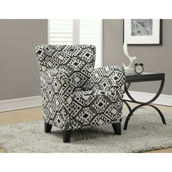 Shop Black Beige Abstract Fabric Club Chair Overstock
