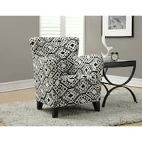 Black / Beige Abstract Fabric Club Chair