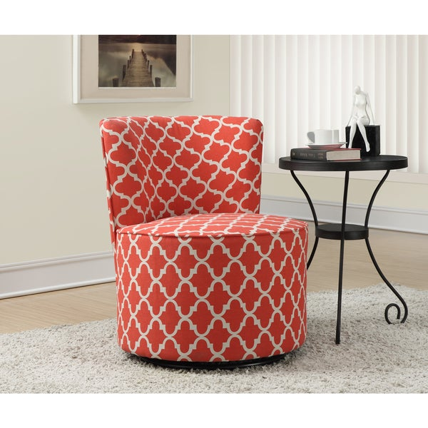 Shop Coral Lantern Fabric Accent Chair Free Shipping