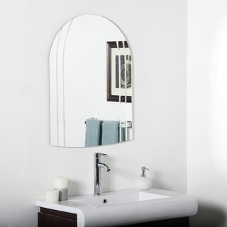 Serina Modern V-groove Vertical Bathroom Mirror
