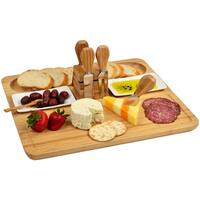 Picnic at Ascot Sherborne Bamboo Cheese Board Set with Cheese Tools