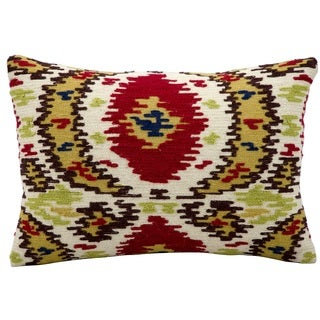 kathy ireland Ikat Multicolor Throw Pillow (12-inch x 18-inch) by Nourison