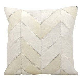 Nourison Kathy Ireland 20-inch Solid Chevron White Throw Pillow