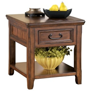 signature designashley woodboro dark brown oak lift-top