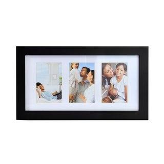 Melannco Matte Black 3-photo Collage Frame