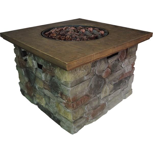 Shop Galiano Natrual Stone Style 50 000 Btu Gas Fire Table