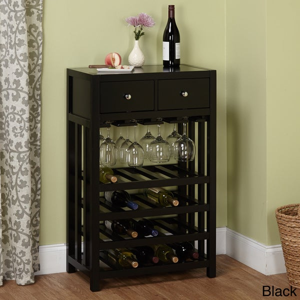Simple Living Napa Wood 20-bottle Wine Tower - Free Shipping Today ...