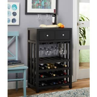 Simple Living Napa Wood 20 Bottle Wine Tower