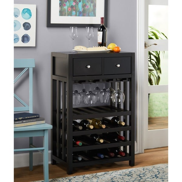 Simple Living Napa Wood 20 Bottle Wine Tower Free