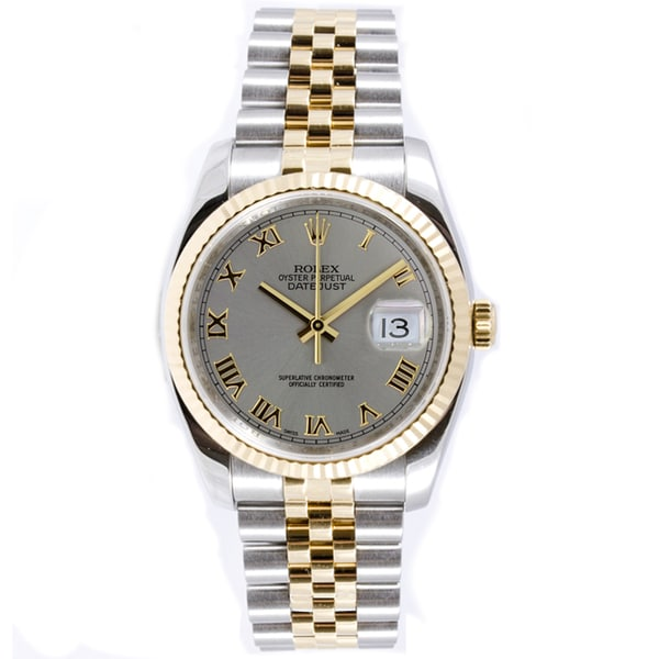 f2fad502dbb Pre-Owned Rolex Men  x27 s Datejust Steel and Gold Jubilee Automatic Watch
