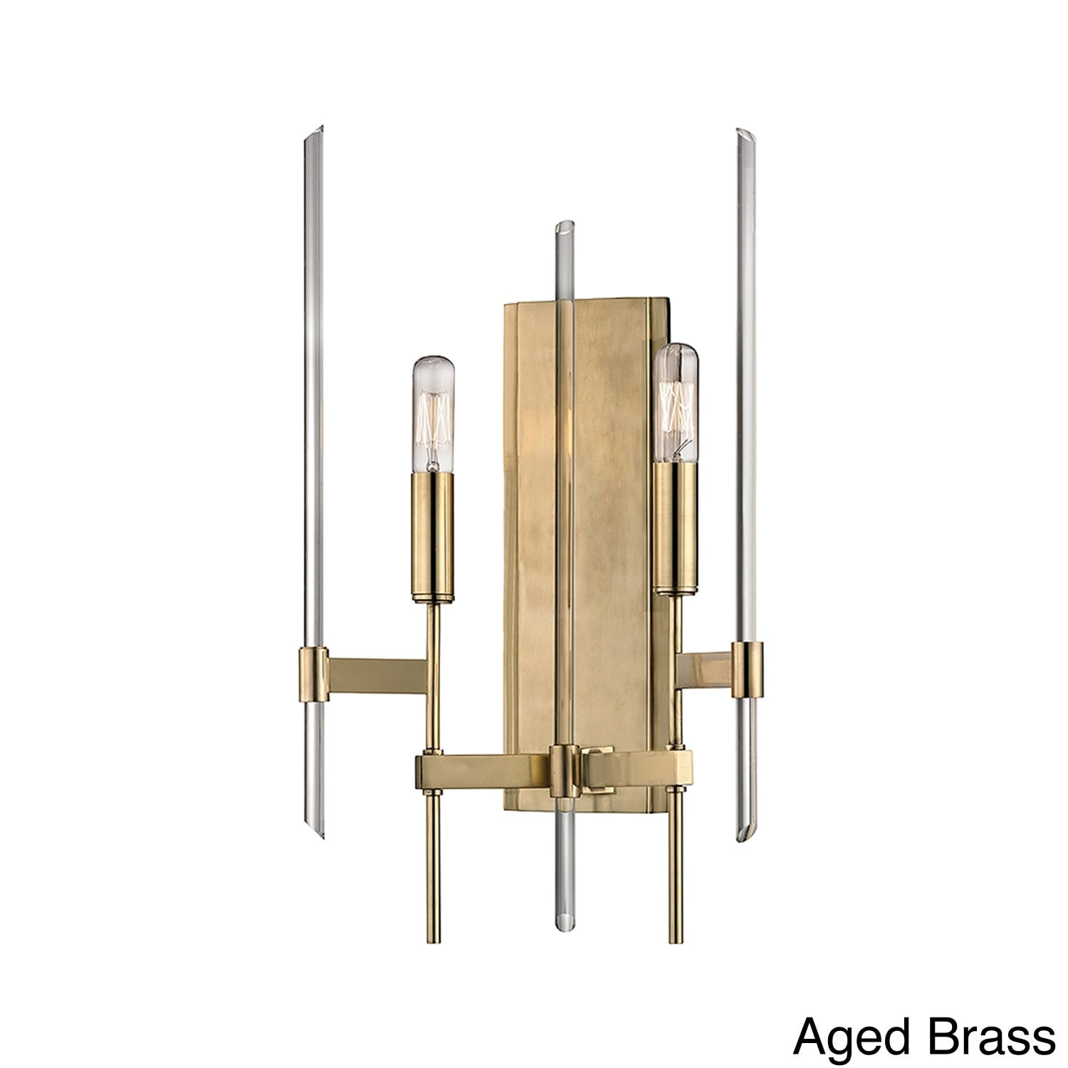 shop hudson valley bari 2 light wall sconce overstock 9321092 overstock com