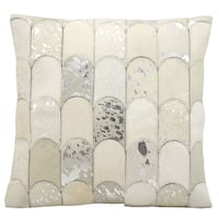 kathy ireland Lady Fingers White/Silver Throw Pillow (20-inch x 20-inch) by Nourison