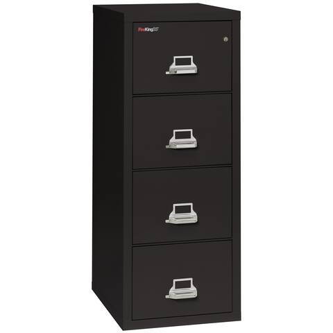 "FireKing Fireproof Vertical File Cabinet, Legal, 4 Drawers, 31.5""D"