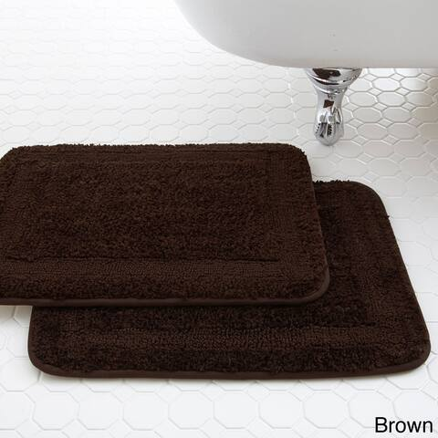 Amraupur Overseas Classic Spa Collection Memory Foam Bath Mat (Set of 2)