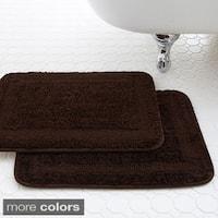 Amraupur Overseas Classic Spa Collection Memory Foam Bath Mat (Set of 2)