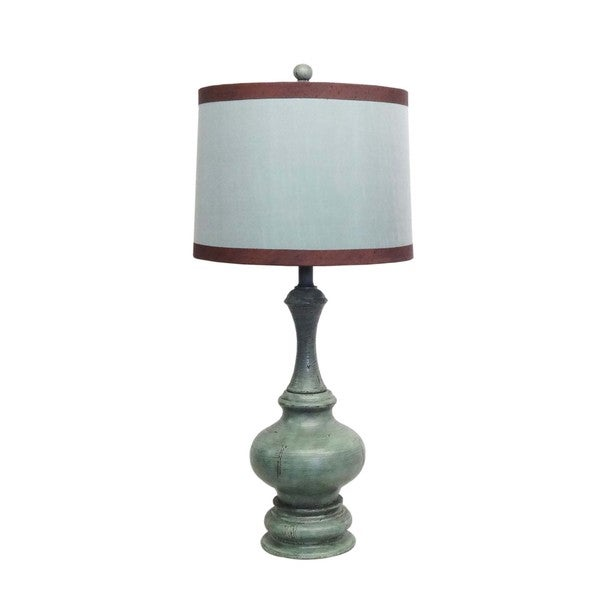 Blue Classic Pawn Wood Table Lamp
