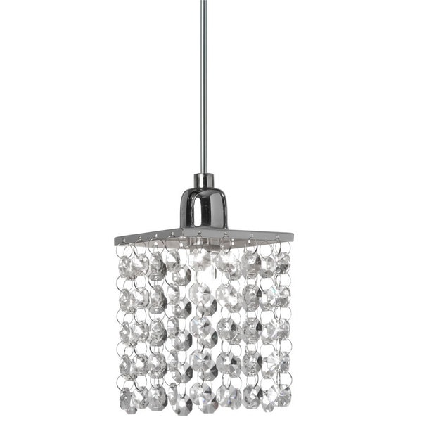 Elk Lighting Owner: Single-light Polished Chrome/ Crystal Pendant