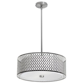 3-light Satin Chrome Pendant with Glass Diffuser
