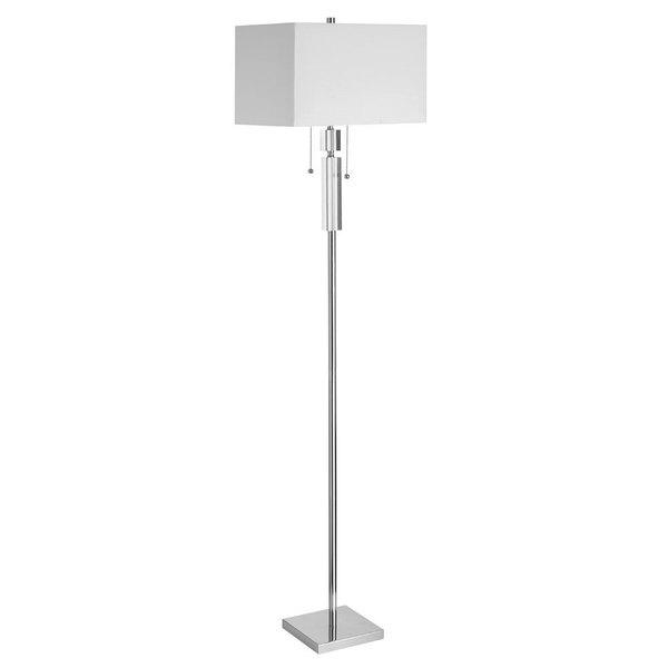 Danolite White Linen Acrylic Accent Floor Lamp