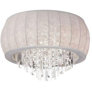 Dainolite 8-light Crystal Dome Flush Mount Fixture