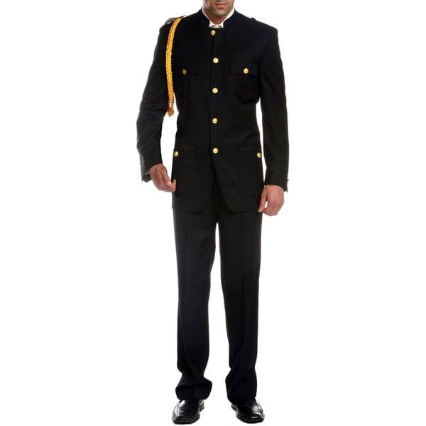7a38e2f8cfaba Shop Ferrecci Men's 'Military General' 2-piece Uniform Suit - Free ...