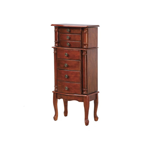 Powell Elwood Classic Cherry Jewelry Armoire - overpacked