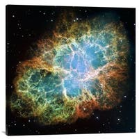 Global Gallery NASA 'Crab Nebula Mosaic' Stretched Canvas
