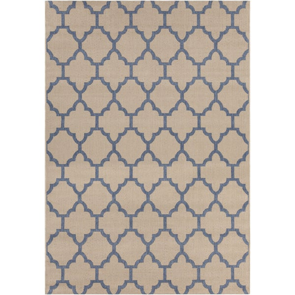 Artist's Loom Indoor/Outdoor Moroccan Geometric Rug - 7'10 x 11'2