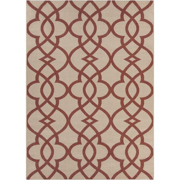 Artist's Loom Indoor/Outdoor Moroccan Geometric Rug (7'10 x 11'2) - 7'10 x 11'2