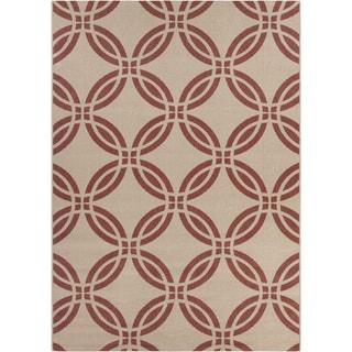 Artist's Loom Indoor/Outdoor Moroccan Geometric Rug (7'10 x 11'2)