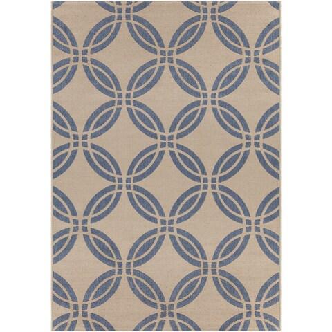 Artist's Loom Indoor/Outdoor Moroccan Geometric Rug