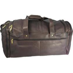 David King Leather 305 Extra Large Multi Pocket Duffel Cafe